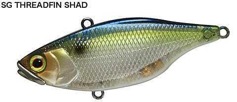 "Jackall Lures TN Lipless Crank Hard Bait Lure Model 60, 2.40"" Body Length, 4/9 oz Threadfin Shad, Per 1 Md: JTN60-SGTH"