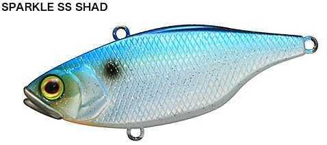 "Jackall Lures TN Lipless Crank Hard Bait Lure Model 60, 2.40"" Body Length, 4/9 oz Sparkle SR Shad, Per 1 Md: JTN60-SSSH"