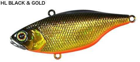 "Jackall Lures TN Lipless Crank Hard Bait Lure Model 70, 2.80"" Body Length, 5/8 oz, HI Black and Gold, Per 1 Md: JTN70-HL"