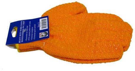 Lee Fisher Joy Fish Gloves Meduim Orange Vinyl Glove Model: Glny-m-pr