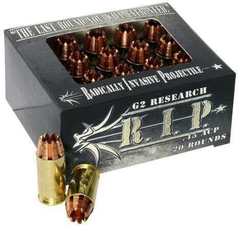 Rip G2R Pistol Ammo 45 ACP Rip Fracturing 20/Bx Model: 13023