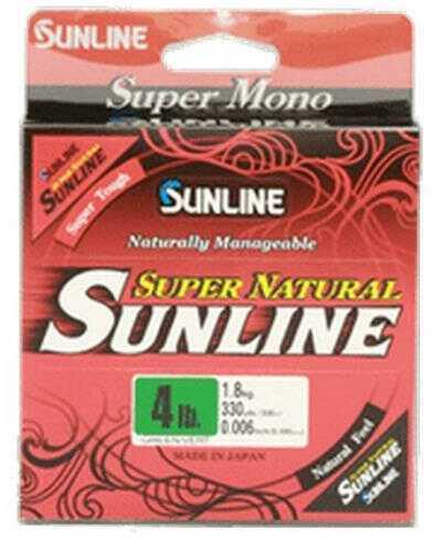 Sunline Super Natural Mono Natural Clear 330Yd 10Lb Model: 63758746