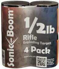 Sonic Boom TargetsSonic Boom Exploding Target 1/2 Lb Rifle Target 4 Pack Model: Sbthp4p