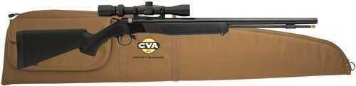 CVA .50 Caliber Wolf Muzzleloader Blued, Black Stocks, with KonuShot 3-9×32 and Case Combo