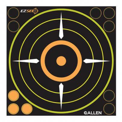 """Allen EZ See Adhesive Bullseye Target, 8.5""""X8.5"""", 6 Pack 15228"""