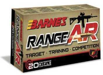 Barnes Range AR 300 Blackout 90 Grain Zn Core Open Tip Flat Base Lead Free 20 Round Box 30733