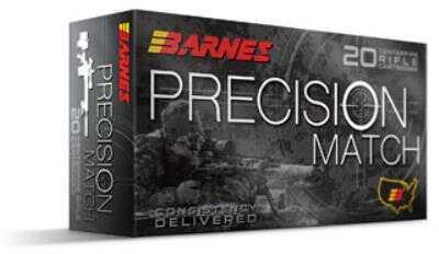 Barnes Precision Match 300 Win 220 Grain Open Tip Match Boat Tail 20 Round Box 30740