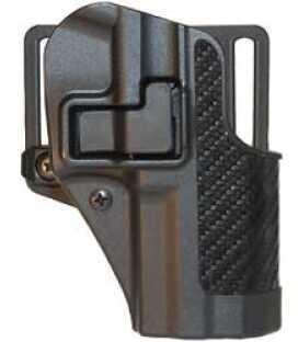 Blackhawk Cqc Serpa Belt Holster Right Hand Black Carbon Fiber Ruger® Sr9 Carbon Fiber Belt Loop And Paddle 410041Bk-R