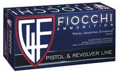 Fiocchi Ammunition Centerfire Pistol 45 ACP 230 Grain Full Metal Jacket 50 Round Box 45A500