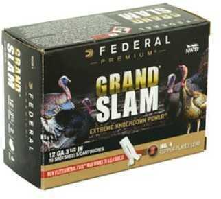 """Federal Grand Slam 12 Gauge 3.5"""" #4 2oz Flight Control 10 Round Box PFCX139F 4"""