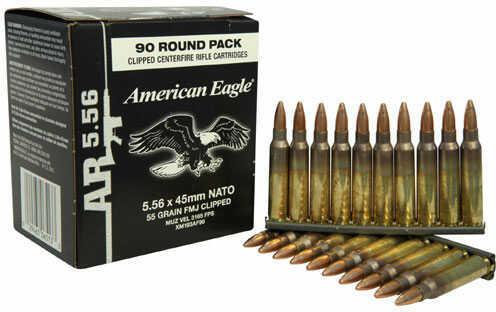 Federal Cartridge 5.56mm 55 Grain FMJ Stripper Clipped /90 Md: XM193Af90