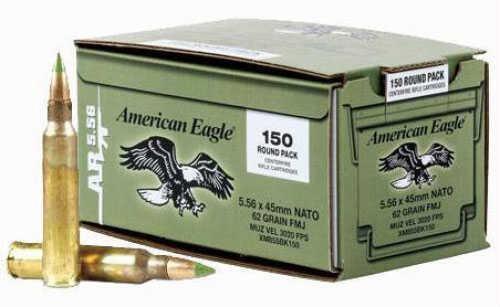 Federal Ammunition 5.56MM Nato 62 Grain FMJBT M855 150Rd/Bx