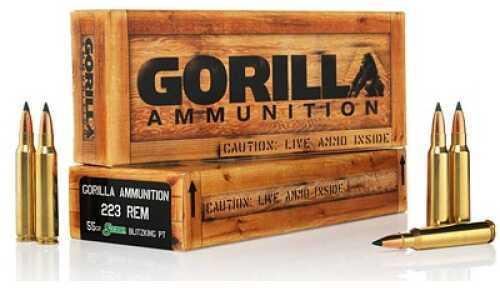 Gorilla Ammunition 223 Remington 55 Grain Sierra Blitzking 20 Rounds Ammunition Ga22355SBK