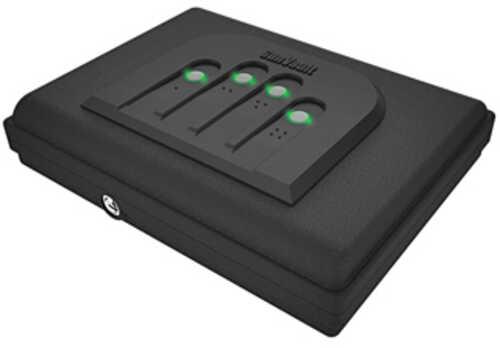 "Gunvault MV55019 MicroVault 550 Gun Safe Mechanical Illuminated Keypad/Key 20 Gauge Steel Black 2.5"" x 11""x 8.5"" (Exteri"