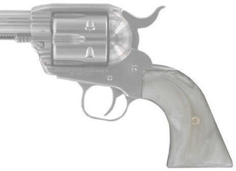 Hogue Scrimshaw Grips XR3 Blackhawk/Vaquero, White Pearl Cowboy Pan Md: 79070