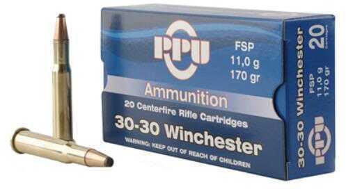 Prvi Partizan Pp30302 Standard Rifle 30-30 Winchester 170 Grains Flat Soft Point 20 Box