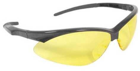 RadiansRadians Outback Glasses Black Frame Amber Lens With Cord OB0140CS