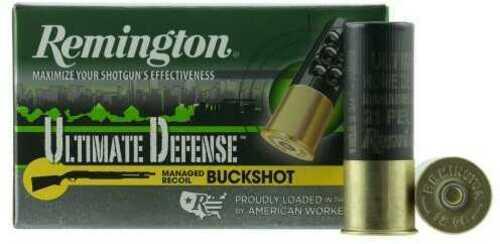 "Remington Ultimate Defense 12 Gauge 2.75"" #4 Shotshell 21 Pellets 5 Round Box 20637"