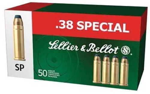 Sellier & Bellot Pistol 38 Special 158 Grain Soft Point 50 Round Box SB38C