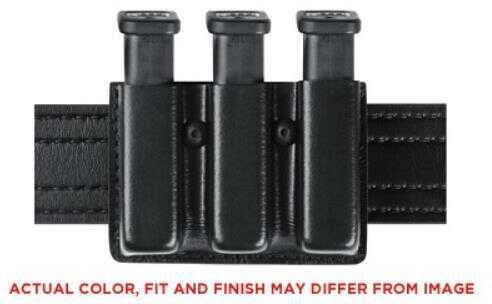 """Safariland Model 775 Slimline Open Top Triple Magazine Pouch For 2.25"""" Duty Belts Fits Glock 17 Belt Loop Hardshell STX"""