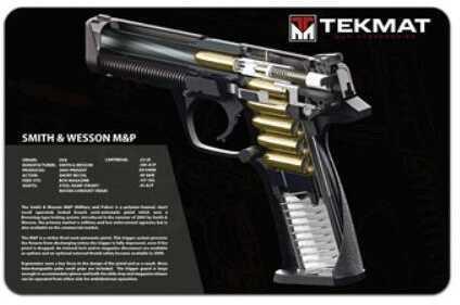 "TekMat S&W M&P Pistol Mat 3D Cut Away 11""x17"" Black 17-SW-MP-CA"