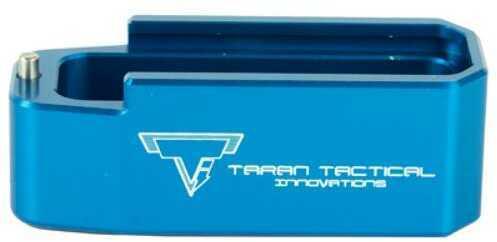 Taran Tactical Innovation PMAG Base Pad for AR15 +5 Blue Finish PMBP-02