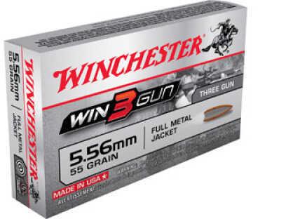 3 Gun 5.56mm 55 Grain FMJ (Per 20) Md: X5.56TG