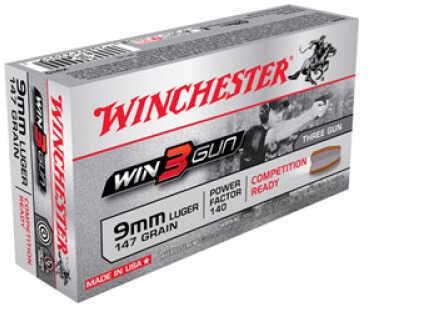 3 Gun 9mm 147 Grain (Per 50) Md: X9TG