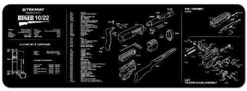 "Beck Tek, LLC Ruger® 10/22® Rifle Mat, 12""X36"", Black Finish 36-1022"