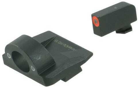 AmeriGlo GL5225 Ghost Ring Night Sight Fits Glock 17/19/19x/26 Gen5 Tritium Green Tritium w/Orange Outline Front Tritiu