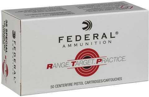 Federal RTP38130 Range and Target 38 Special 130 Grain Full Metal Jacket (FMJ) 50 Box