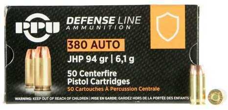 Prvi Partizan 380 ACP 94 Grain JHP 50/box