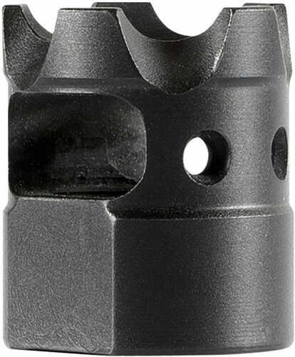 """Patriot Ordnance Factory 01577 Micro-B 223 Rem/5.56 NATO Muzzle Brake 1/2""""-28 tpi Black Steel"""