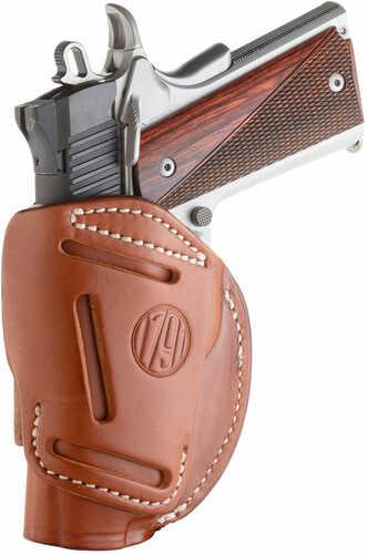 """1791 Holster 4-Way IWB/OWB MUL Fit RH SZ1 1911 3-4"""" Brown"""