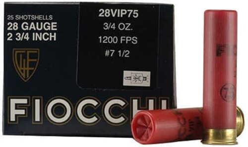 """Fiocchi 28Vip75 Exacta Vip 28 Gauge 2.75"""" 3/4 Oz 7.5 Shot 25 Bx/ 10 Cs"""