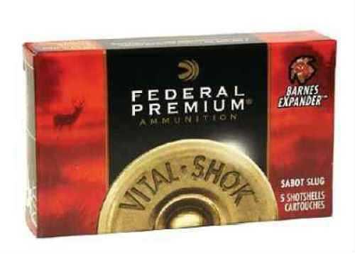 "Federal 12 Gauge Premium Vital-Shok Rifled Slugs 2 3/4"" Truball Hollow Point LR Per 5 Ammunition"
