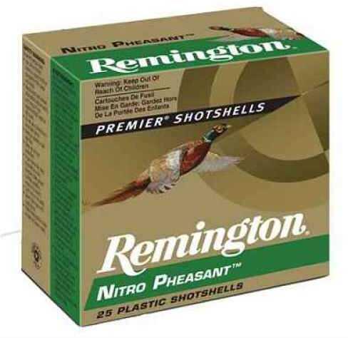 "Remington Nitro Pheasant 12 Ga. 2 3/4"" 1 3/8 Oz #4 Copper Plated Lead Shot Ammunition Md: Np12M4 Case Price 250 Rounds"