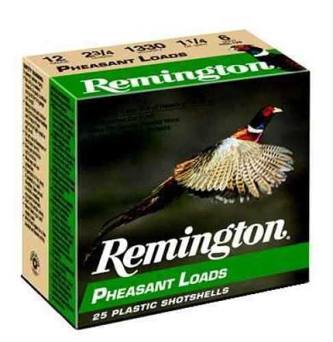"""Remington Pheasant 12 Ga. 2 3/4"""" 1 1/4 Oz #5 Lead Shot 25 Rounds Per Box Ammunition Md: Pl125 Case Price 250 Rounds"""