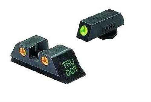 Glock - Tru-Dot Sights 10mm & .45 ACP, Green/Orange, Fixed Set Md: Ml10222 O