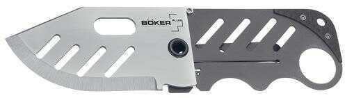 """Boker 01Bo010 Plus Folder 2.25"""" 440C Stainless Drop Point Stainless Steel"""
