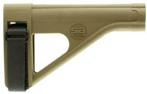 SB Tactical SOB Pistol Stabilizing Brace FDE Fits AR Pistol Buffer Tube SOB-02-SB