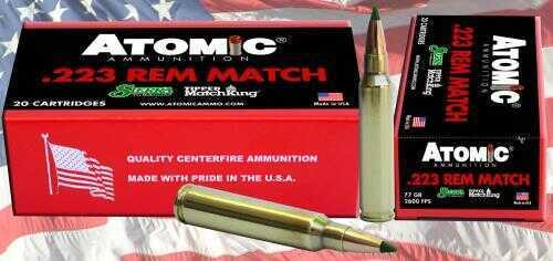 Atomic Match 223 Remington 77 Grain Tipped Matchking 20 Round Box