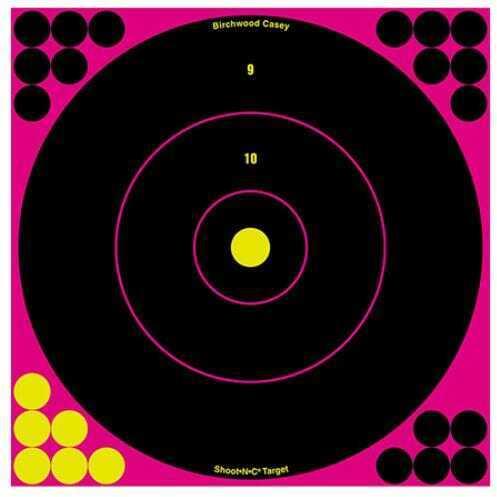 "Birchwood Casey Shoot-N-C Targets: Bull's-Eye 12"", Pink (Per 5) Md: 34027"