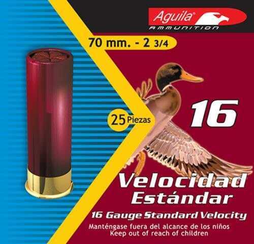 Aguila Standard Velocity 16 Gauge 2.75 Inch 1 Ounce 2-5/8 Dram #8 Lead Shotshells, 250 Per Case