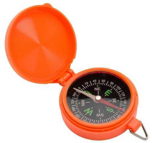Allen 487 Pocket Compass with Lid Orange