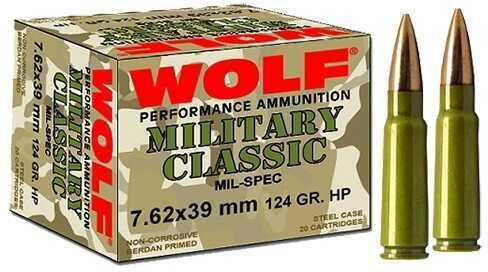 Wolf Mc7.62BSP Military 7.62X39 Soft Point 124 Grain 1000Rds