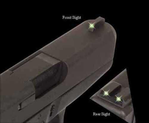 Truglo Brite Site Tritium Handgun Sight Set Kimber Md: TG231K