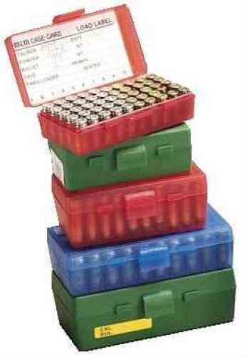 MTM Ammo Box 50 Round Flip-Top 9mm 380 ACP Green P50-9M-10