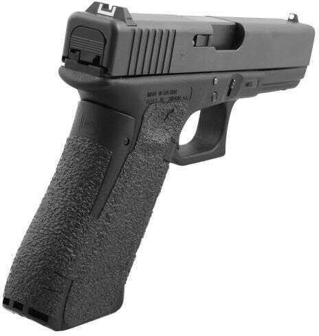 Talon 374R for Glock 19 Gen 5 Rubber Adhesive Grip With Medium Backstrap Textured Rubber Black