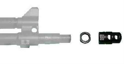 """Kel-Tec PLRSU582 PLR-22 Muzzle Brake Kit 22 LR 1/2""""-28 tpi Black Steel"""